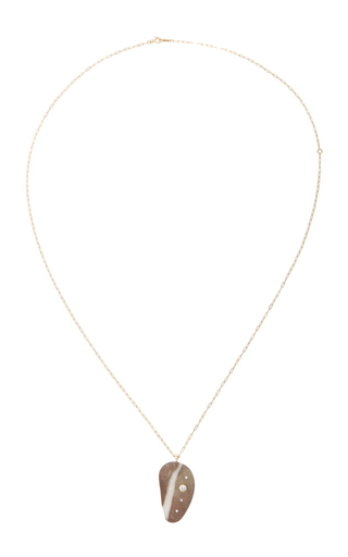 Cappuccino Stone Necklace by CVC STONES Now Available on Moda Operandi