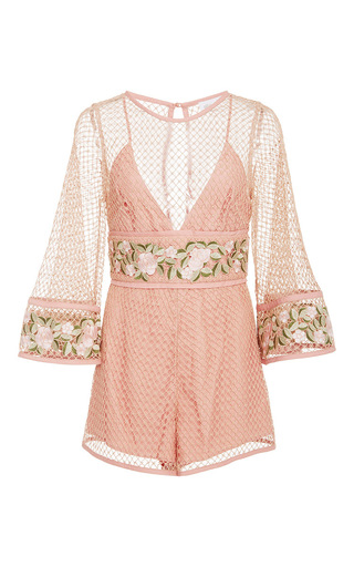 Medium alice mccall light pink all eyes on you playsuit