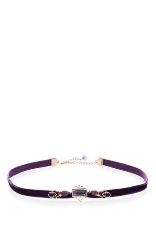Medium daniela villegas purple 18k pink gold enamorados purple choker necklace