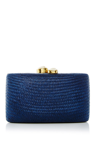 Medium kayu navy jen clutch 15