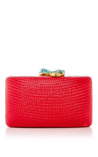 Medium kayu red jen clutch 18