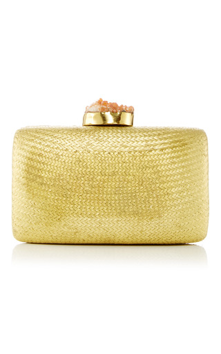 Medium kayu gold santa fe clutch 6