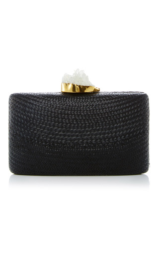 Medium kayu black santa fe clutch 8