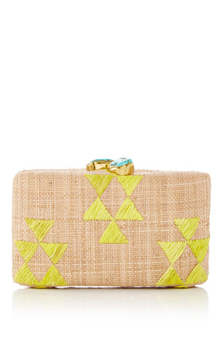 Medium kayu nude tribal clutch 6