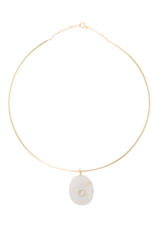 Medium cvc stones white trapeze choker necklace