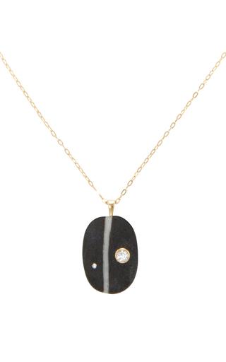 Medium cvc stones black me too stone necklace