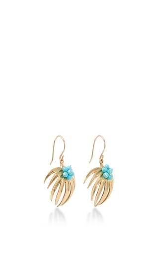 Curled Fan Palm Tree Earrings by ANNETTE FERDINANDSEN Now Available on Moda Operandi