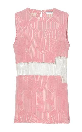 Medium madiyah al sharqi pink textured lace sleeveless dress