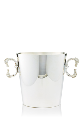 Medium mantiques modern silver large hermes double horse head ice bucket