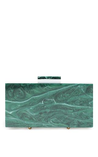 Medium l afshar green marble emerald medium clutch