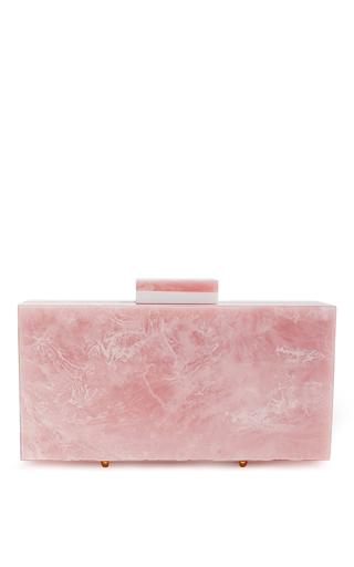 Medium l afshar pink quartz marble pink medium clutch