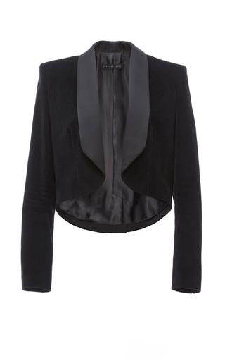 Medium caroline hayden black tuxedo velvet jacket