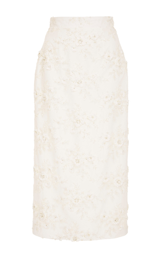 Medium caroline hayden ivory embellished tulle skirt