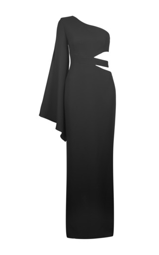 Medium carla zampatti black the side cut gown