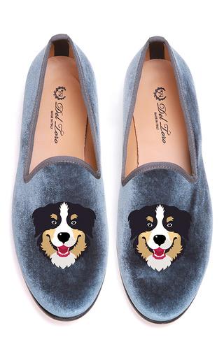 Medium del toro light grey bernese slipper