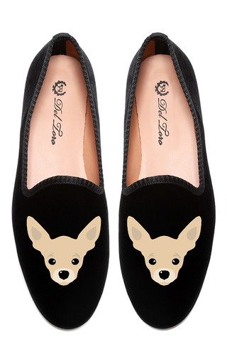 Medium del toro black chihuahua slipper