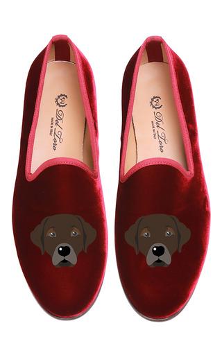 Medium del toro burgundy chocolate lab slipper
