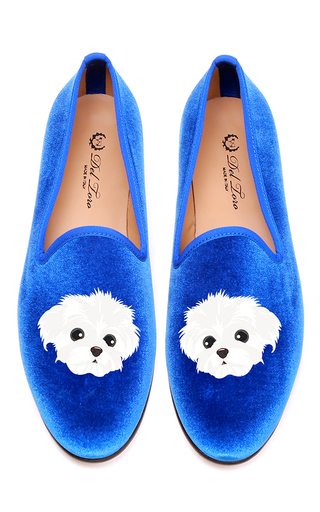Medium del toro blue maltese slipper