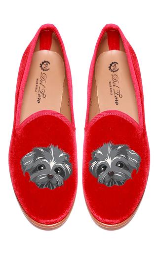 Medium del toro red shih poo slipper
