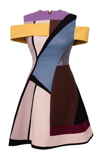 Medium hussein bazaza blue off the shoulder short dress