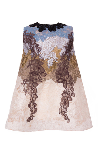 Medium hussein bazaza off white lace collage mini dress