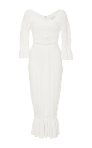 Medium alice mccall white mercy knit midi dress
