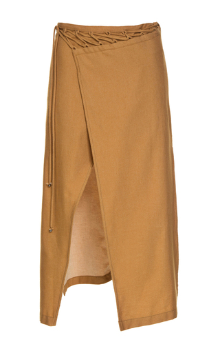 Medium lilly sarti tan envelope midi skirt
