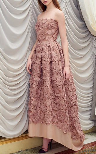 Medium rami al ali pink embroidered floral organza mullet gown