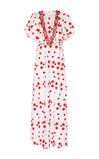 Medium giambattista valli floral macrame floral maxi dress