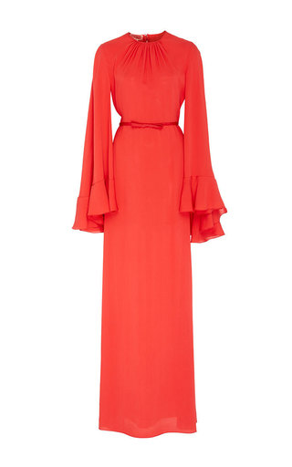 Medium giambattista valli red flared sleeve maxi dress
