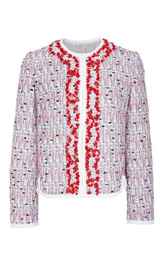 Medium giambattista valli red embellished tweed jacket