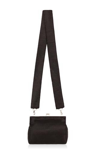 Medium bevza black black jacquard clutch