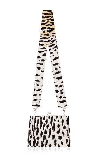 Medium bevza print leopard print jacquard clutch