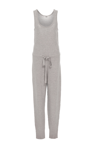 Medium sonia by sonia rykiel light grey wool blend knit jumpsuit