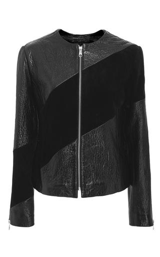 Medium sonia by sonia rykiel black tonal stripe leather jacket