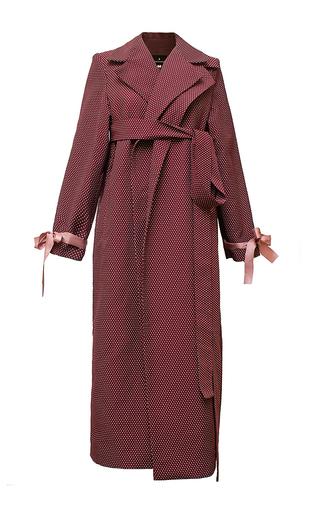 Medium diana kvariani burgundy belted trench coat