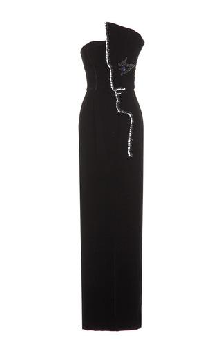 Medium djaba diassamidze black embellished cocteau column dress