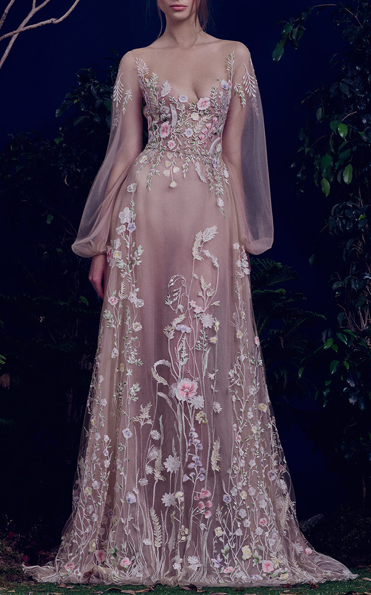 The Belle Blossom Fairy Dress by Hamda Al Fahim | Moda Operandi