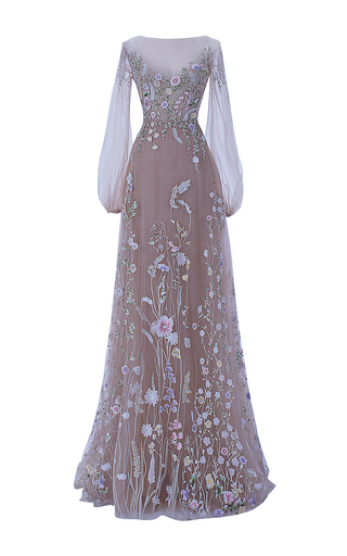 Medium hamda al fahim nude the belle blossom fairy dress