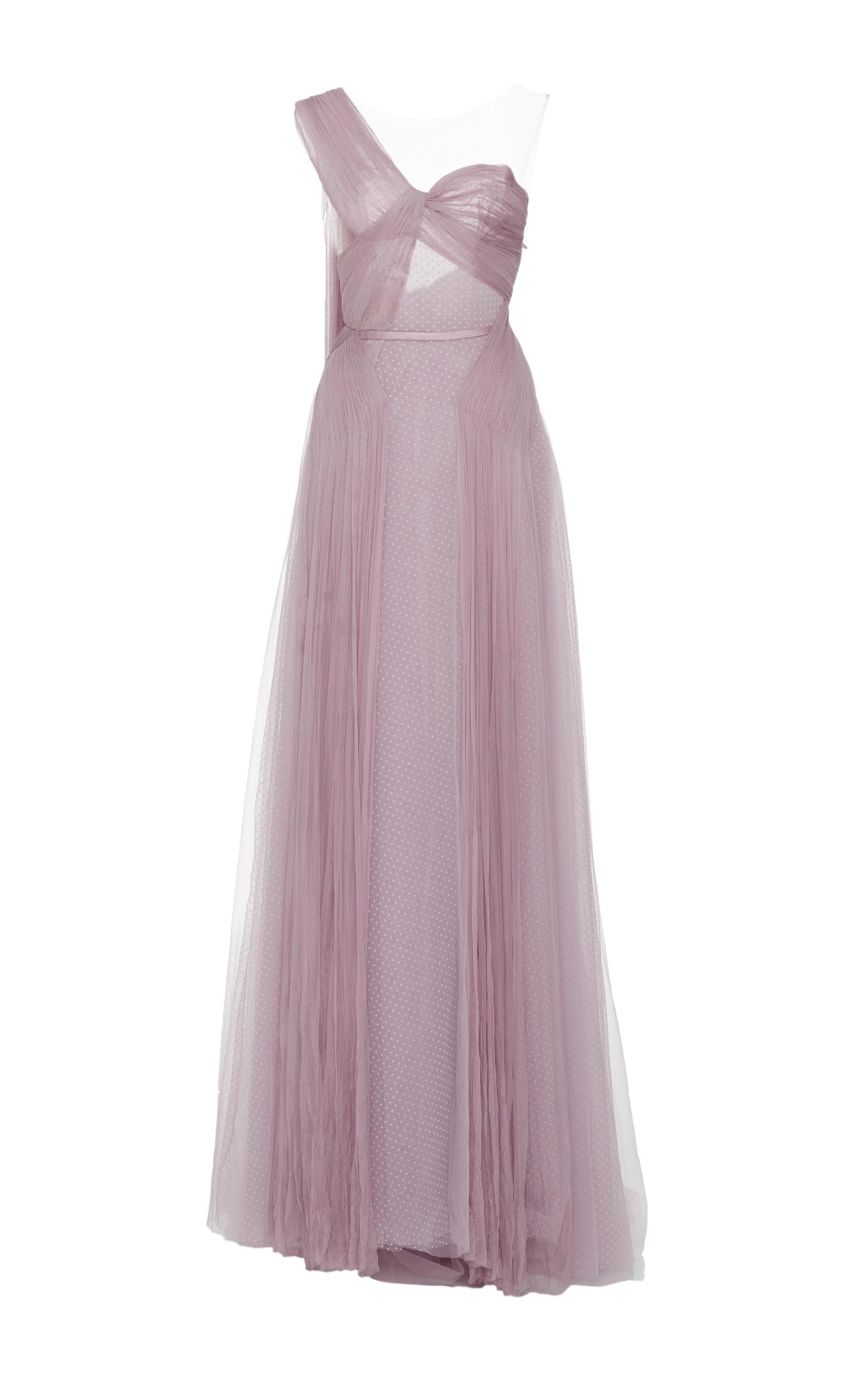 A Lavender Spell Gown by Hamda Al Fahim | Moda Operandi