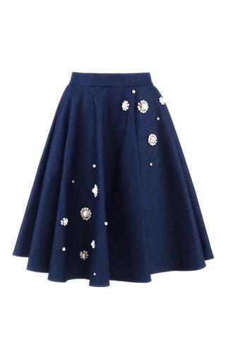 Medium aka nanita navy full embellished denim skirt