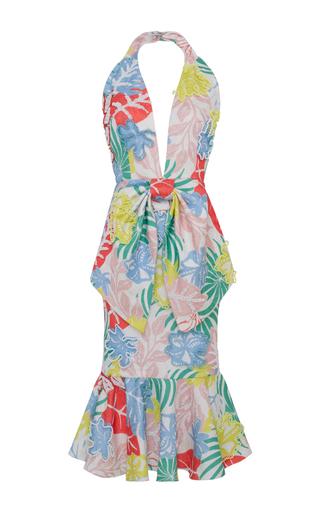 Medium patbo multi bow embroidered midi dress