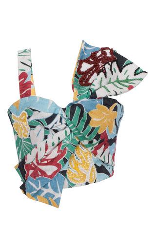 Medium patbo multi printed tropical vintage bow top