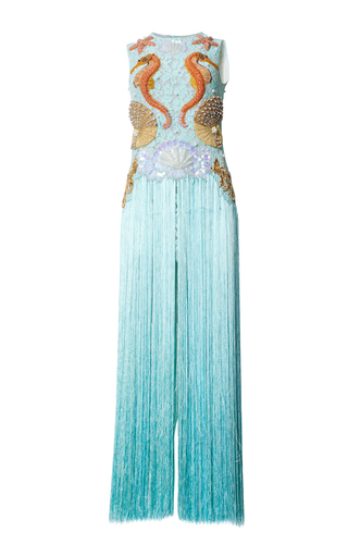 Medium romance was born blue king neptune fringed gown