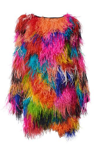 Medium romance was born multi opulent ostrich dress