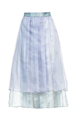 Medium lalo blue layered midi skirt