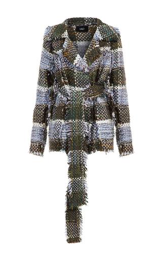 Medium lalo multi belted handmade tweed jacket