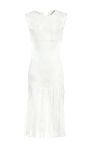 Medium lalo white pleated midi dress