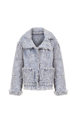 Medium lalo light grey handmade tweed jacket