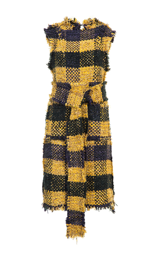 Medium lalo multi sleeveless tweed dress